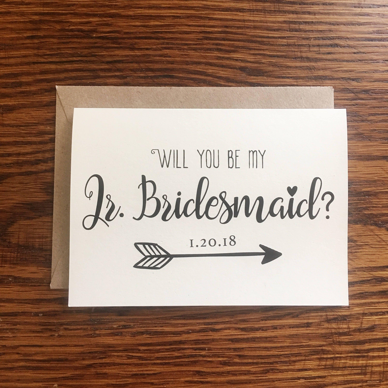 Will You Be My Jr Bridesmaid Card Jr Bridesmaid Proposal Jr