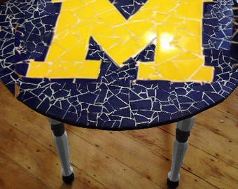 MIchigan Wolverine Tile Table