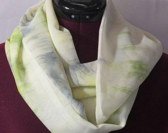 Infinity Scarf - Soft Yellow/Green Challis