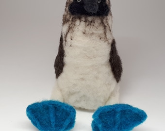 Blue-footed Booby Needle-felted wool Sculpture