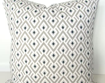 TAN PILLOWS Tan Decorative Pillow Covers Taupe Ecru Pillow Covers Khaki Navy Blue Pillows 16x16 18 20 All Sizes. Home Decor