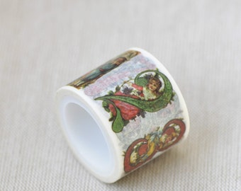 "1.18"" (30mm) Width Number Numerals Washi Tape Baby Angel  Masking Tape 5.5 yards No.12103"