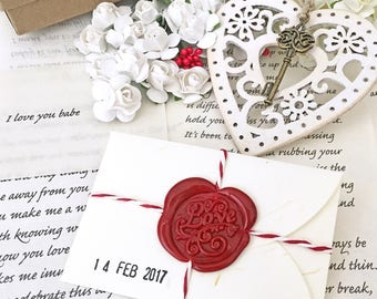 Love letter etsy girlfriend gifts valentines day personalized love letter cottage chic heart customized love spiritdancerdesigns Choice Image