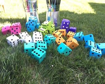 Yardzee, Lawn Dice, Yard Games, Outdoor Games, Lawn Games, Yard Dice, Jumbo Dice, Dice, Giant Dice, Family Games