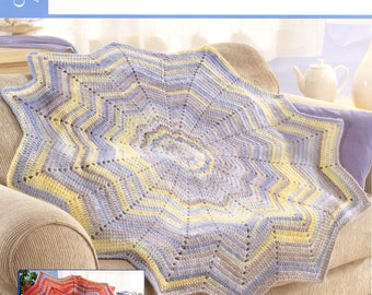 Round Ripple Afghan pattern sheet from Herrschners