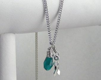Teal Awareness Necklace