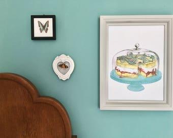 LONDON-Victoria sponge cake print A3