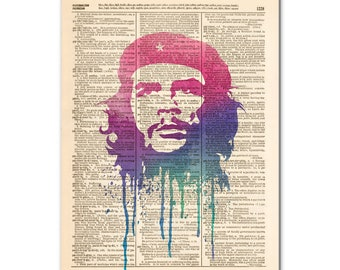 Art print on Dictionary page - CHE GUEVARA,  poster00489