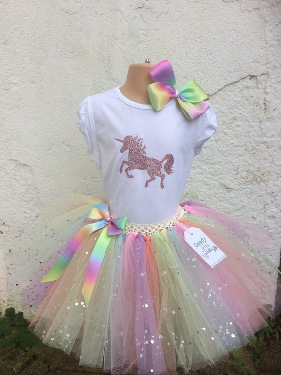 Unicorn Top And Tutu Unicorn Tshirt And Tutu Party Tutu