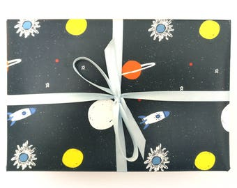 Planets wrapping paper - planets gift wrap space gift wrap space wrapping paper planets wrap space wrap