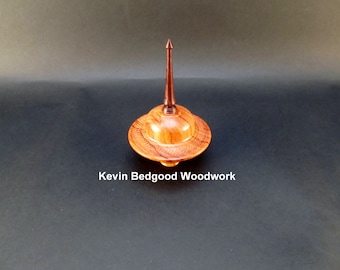 Box Lidded Container Hormigo with Rosewood finial turned jewelry