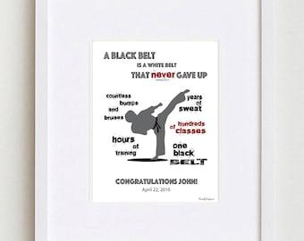 Personalized Martial Arts Black Belt Gift • Tae Kwon Do Black Belt Gift • Black Belt Gift • Judo Gift • Karate Gift • Custom black belt