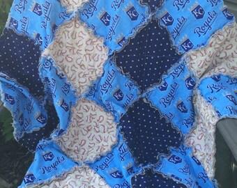 Kansas City Royals baseball quilt baby quilt baby blanket MLB Ready To Ship