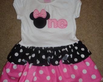 Miss Mouse  Boutique Ruffle Dress