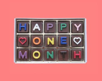 Monthsary gift etsy first month anniversary gifts for men happy one 1 month wedding anniversary gifts for husband monthsary negle Choice Image
