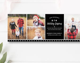 Facebook Timeline Photography Template, Christmas Mini Session Facebook Cover, Photography Marketing, INSTANT DOWNLOAD!