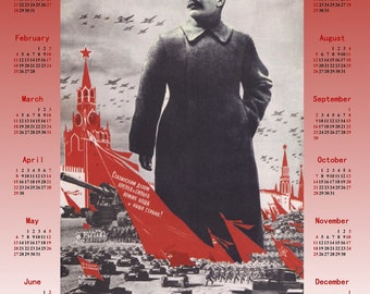 1939 Stalin Soviet propaganda Stalinism poster + Calendar 2018