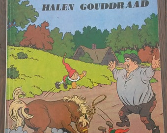 Vintage Dutch children's book Wipneus and Pim
