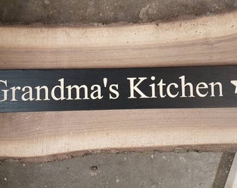 "24"" Home decor signs -Grandma's Kitchen"