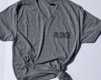 Blonde adult tee