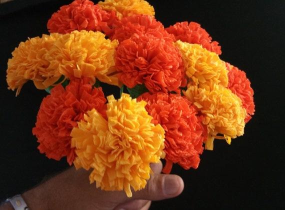 12 marigolds crepe paper flowers day of the dead dia de los mightylinksfo
