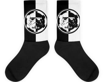 B&W Trooper Logo Socks