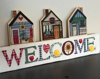 Welcome to Our House Cross Stitch Sign