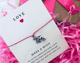 Unicorn wish bracelet magical love friendship charm