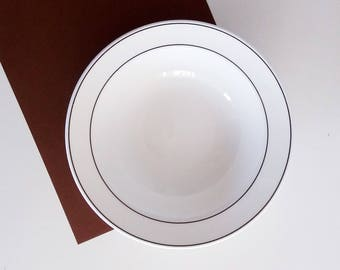 Gustavsberg Bone China / Benporslin Deep Plate (Ø 20.8 cm) Vintage Scandinavian Design / Swedish / Sweden / Mid Century / Retro / Moder & Scandinavian china | Etsy