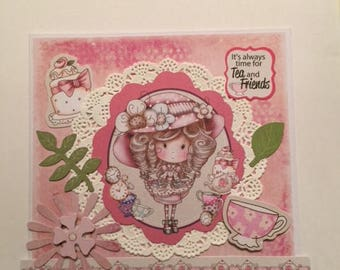 Handmade Tea and Friends Card