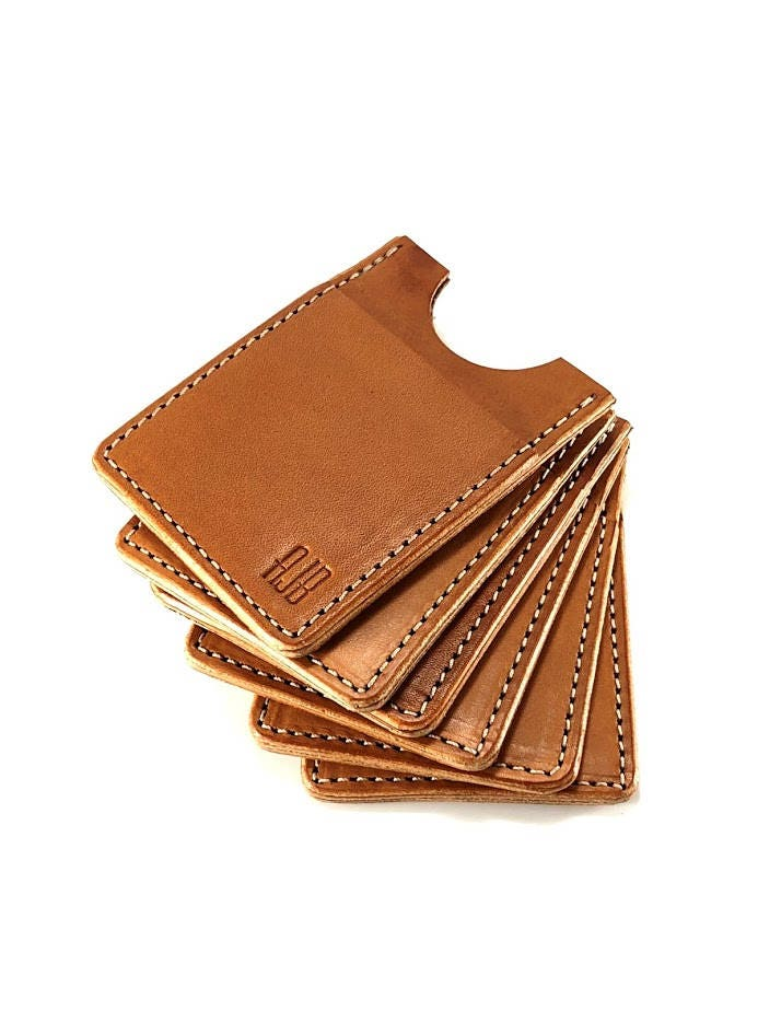 Bridle Leather Card Wallet / Business Card Holder / Leather Billfold ...