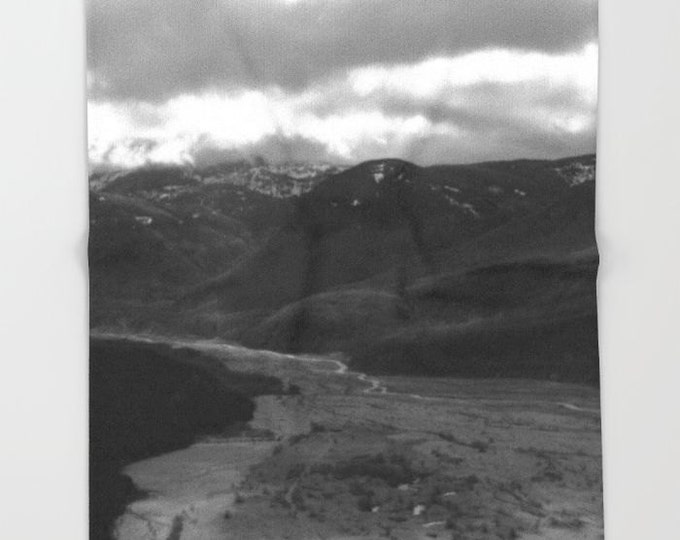 Nature Fleece Throw Blanket - Bedding - Mount Saint Helens Regrowth Photo - Fleece Throw Blanket - Made to Order
