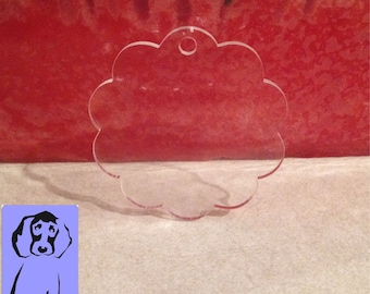 Acrylic  Key Chain Blanks Scalloped 50 Key chains, Great for vinyl applications