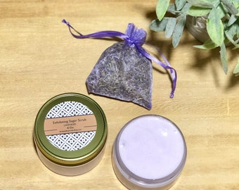 Foaming Body Scrub, Lavender Foaming Scrub, Exfoliating body scrub, LAVENDER Whipped Soap, Fluffy Foaming Whipped Cream Soap, Body Wash