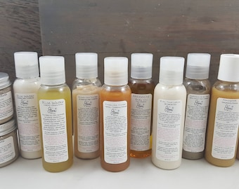 Product Minis,travel size products,sample size products,sample shampoo, sample conditioner,sample hair products, mini products, samples