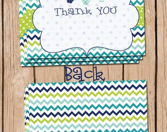 Baby Boy Shower Thank You Card INSTANT DOWNLOAD Baby Shower Thank You Card Boy Baby Shower Thank You Card