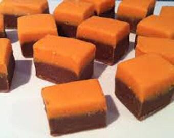 1 1/4 pounds dark chocolate orange fudge