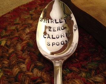 Hand Stamped Silver Spoon, Valentine's Day Gift, Girlfriend Gift, Best Friend Gift, Stamped Vintage Spoon, Daughter Gift, Engraved Spoon