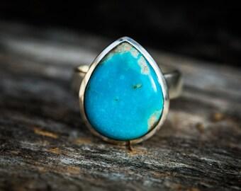 Turquoise Ring 6.75 - Arizona Kingman Turquoise Ring Size 6.75 - Gorgeous Turquoise Ring - Turquoise Jewelry -  Kingman Turquoise Ring