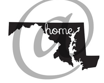 Maryland Home State Graphic | Digital Download | Ready to Use!