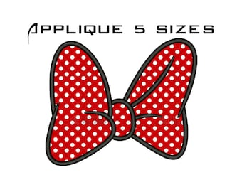 Bow Embroidery Design - Machine Applique Bow Download