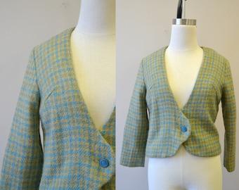 1960s Gaddi Houndstooth Wool Jacket