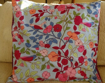 Flowers and birds pillow cover