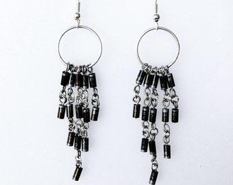 Black Diodes Earrings