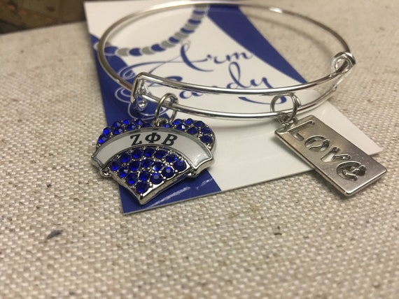 Zeta Phi Beta Love Bangle