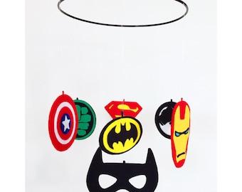 Handmade Avengers Marvel Superhero nursery mobile