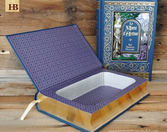 Book Safe - Le Morte d' Arthur - Leather Bound Hollow Book Safe