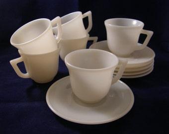 Opalescent children's cup and saucer set!