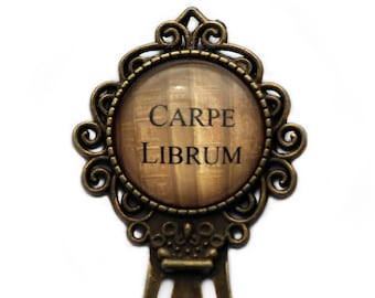 Latin Quote Carpe Librum Bookmark