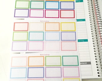 Half Line Boxes Planner Stickers